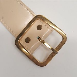 Canterbury Accessories - Vintage CANTERBURY Cream Leather Belt (P08-08)